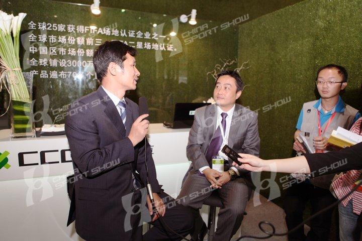 2011成都体博会 - 媒体采访